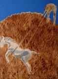 horse number iv by Sally Hunton, Painting, Wax and Oil Stick on Paper